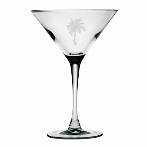 Palm Tree Martini Glasses