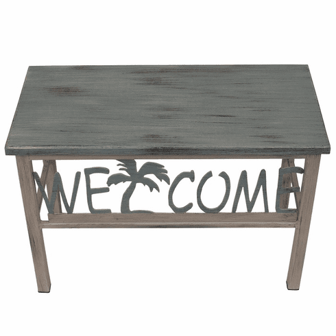 Palm Tree Welcome Bench