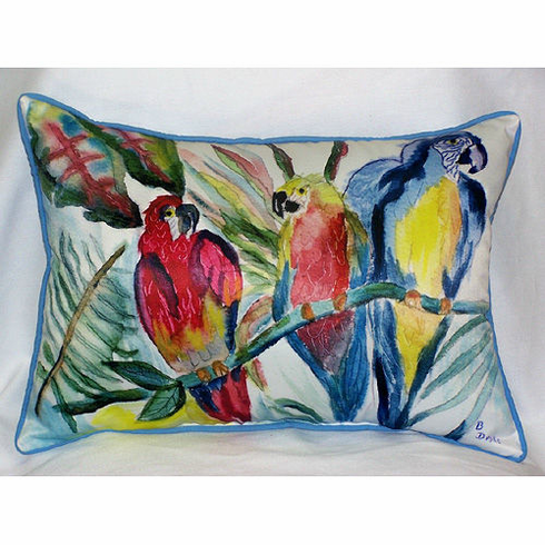 Parrot Family Indoor and Outdoor Pillow