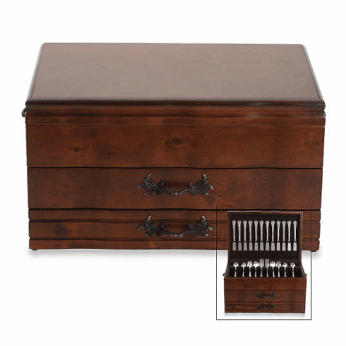Personalized  Provincial Flatware Chest