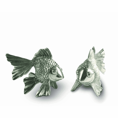 Pewter Goldfish Salt & Pepper Set