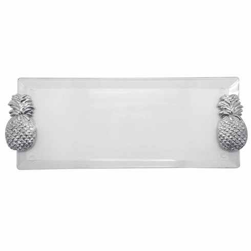Pineapple Handle Clear Acrylic Tray
