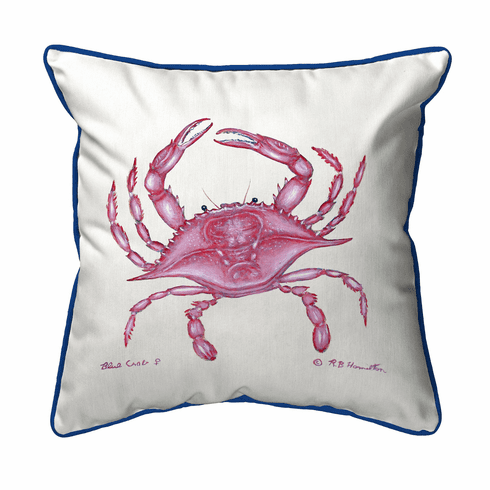 Pink Crab Indoor and Outdoor Pillow