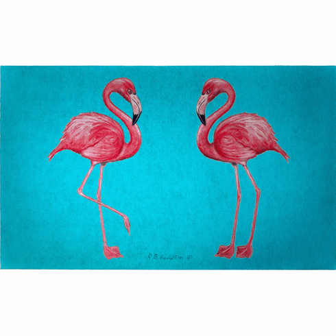 Pink Flamingo Floor Mat