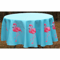 Pink Flamingo Round Tablecloth Ocean Offerings
