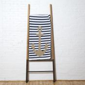 Poly French Stripe Anchor Throw