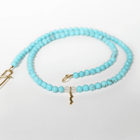 Rayminder UV Awareness Necklace in Cyan Turquoise