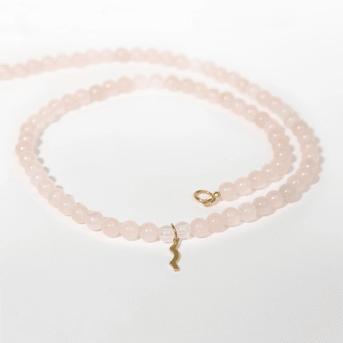 Rayminder UV Awareness Necklace in Rose Quartz