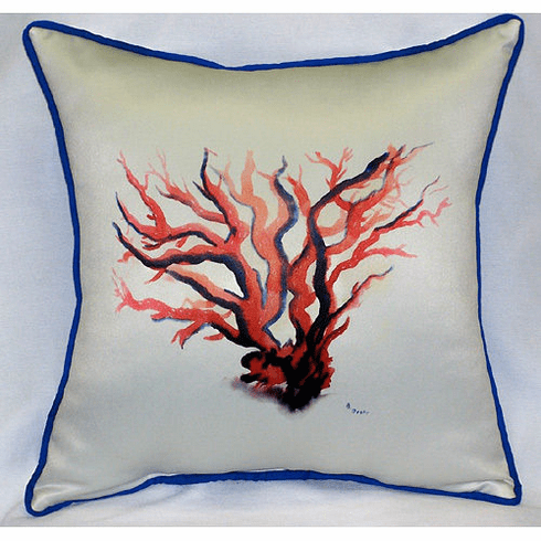 Red Coral Indoor and Outdoor Pillow