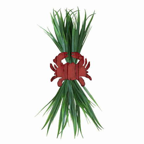 Red Crab with Sea Grass