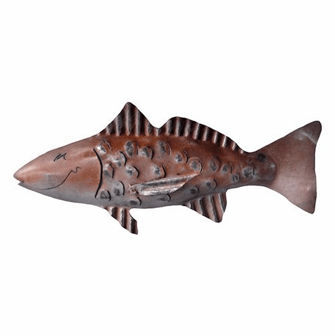 Red Fish Iron Sculpture