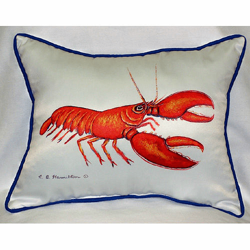 Red Lobster Indoor and Outdoor Pillow