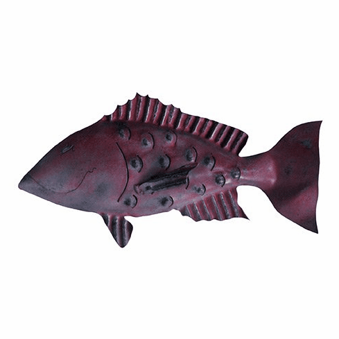 Red Snapper Fish Iron Sculpture