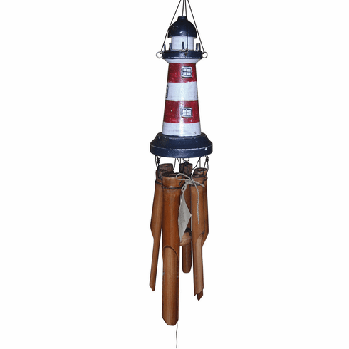Red, White & Blue Lighthouse Wind Chime