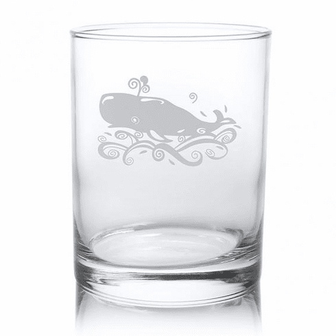 Whale Double Old Fashioned Glasses
