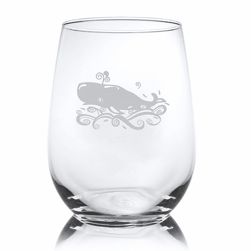 Whale Stemless Wine Glasses