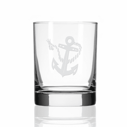 Rope & Anchor Double Old Fashioned Glasses