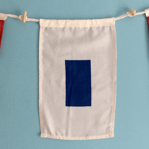 """S"" Nautical Signal Flag"