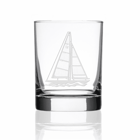 Sailboat Double Old Fashioned Glasses