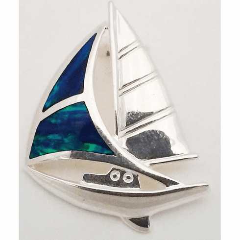 Sailboat Slide with Opals