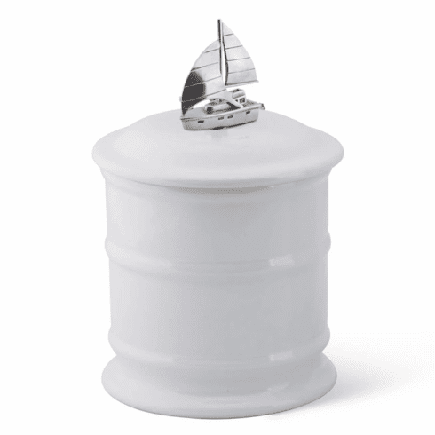 Sailboat Stoneware Canister