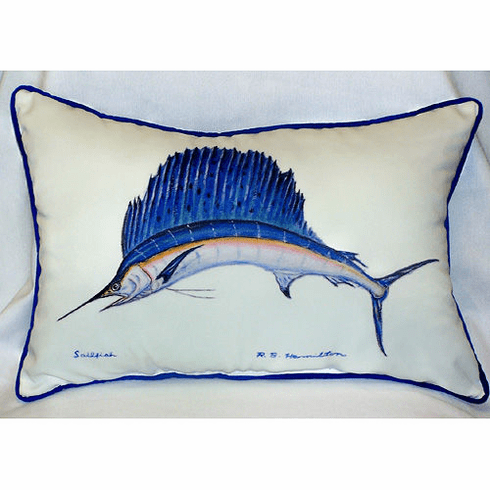 Sailfish Indoor and Outdoor Pillow