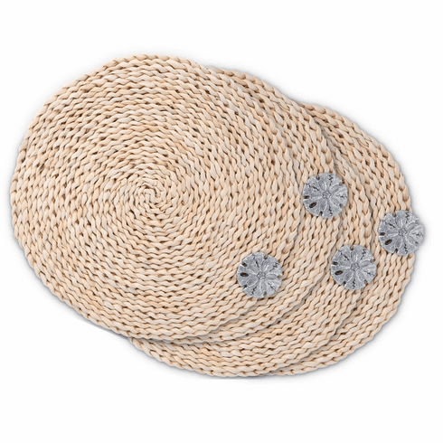 Sand Dollar Twisted Seagrass Placemats