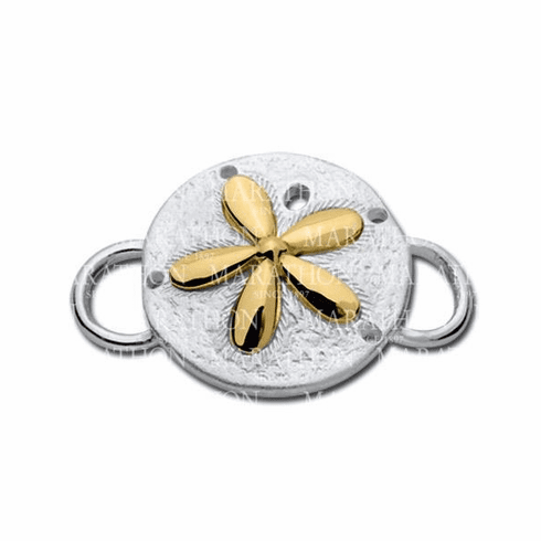 Sand Dollar with 14K Convertible Clasp