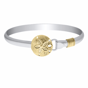 Sand Dollar with Rope Bracelet-Sterling & 14K Yellow Gold