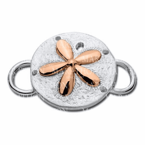 Sand Dollar with Rose Gold Accent Convertible Clasp