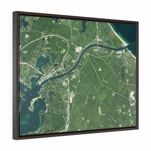 Satellite Print with Floating Frame