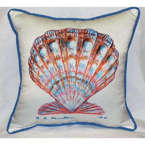 Scallop Shell Indoor and Outdoor Pillow