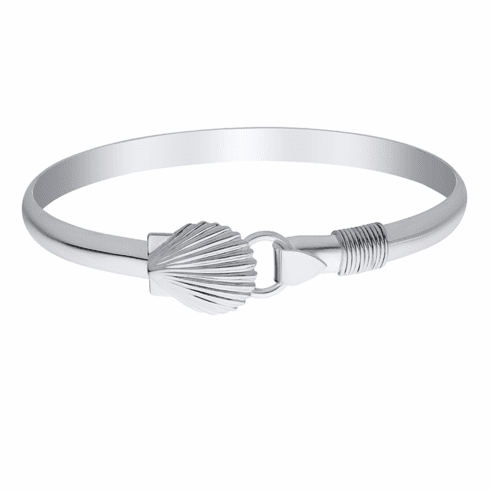 Scallop Shell with Rope Bracelet