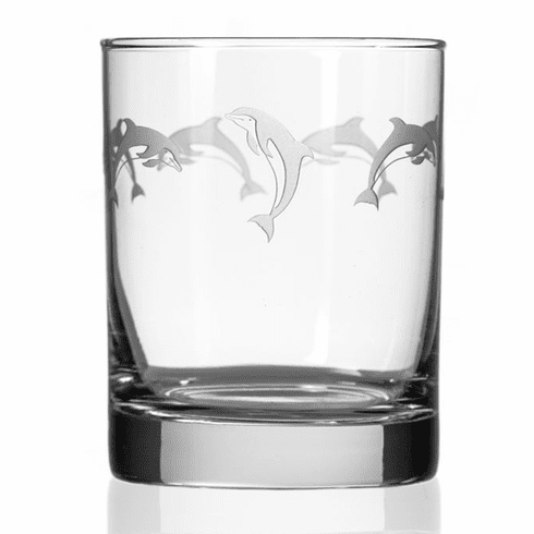School of Dolphin Double Old Fashioned Glasses
