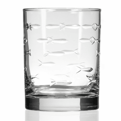 School of Fish Double Old Fashioned Glasses