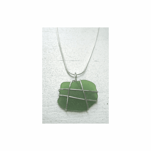 Sea Glass Drop Pendant