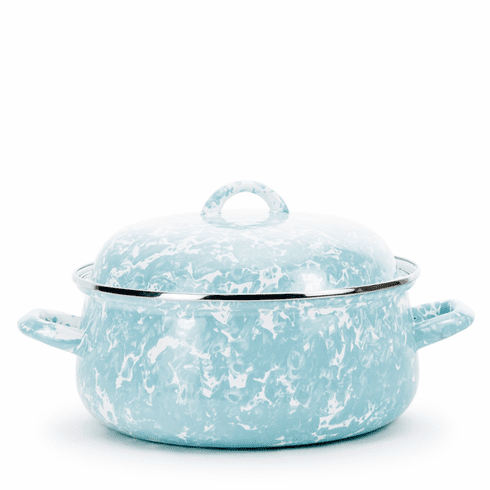 Sea Glass Swirl Dutch Oven