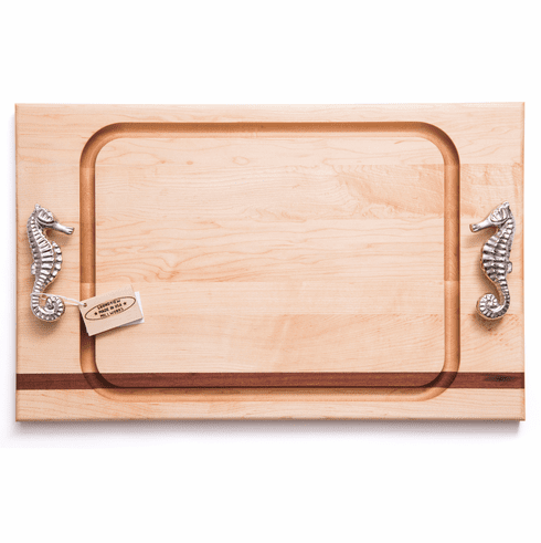 Seahorse Handle Steak Carving Board