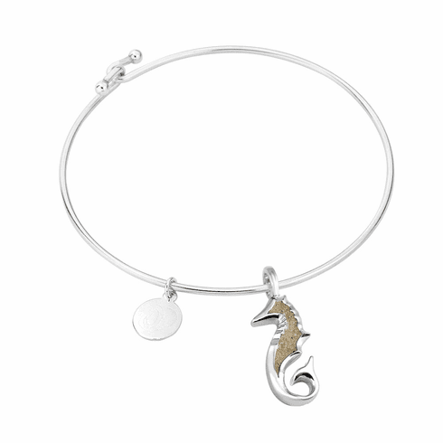 Seahorse Sterling Bangle