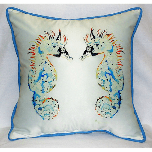 Seahorses Indoor and Outdoor Pillow