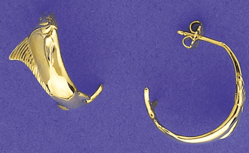 Small Marlin Hoop Earrings