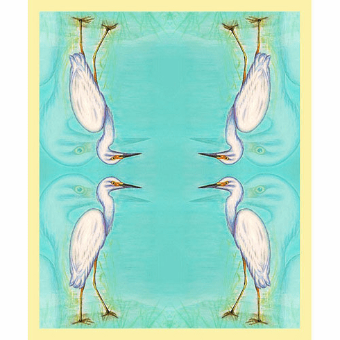 Snowy Egret Throw