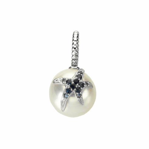 South Sea Cultured Pearl with Blue Sapphire Starfish Pendant