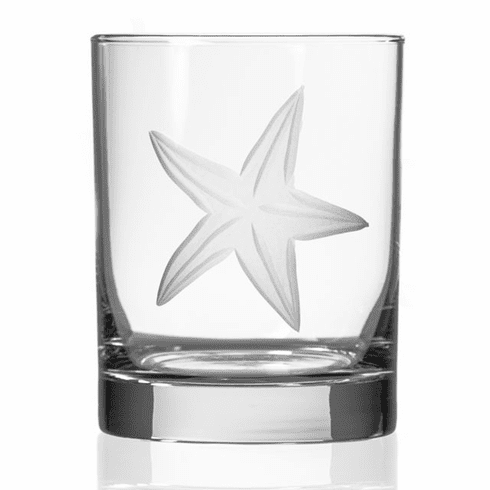 Starfish Double Old Fashioned Glasses