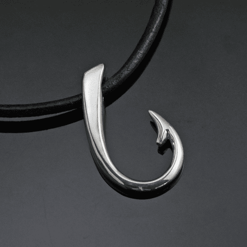 Sterling Silver Large Hook Pendant