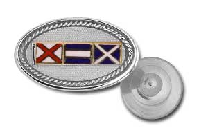 Sterling Silver Signal Flag Tie Tac