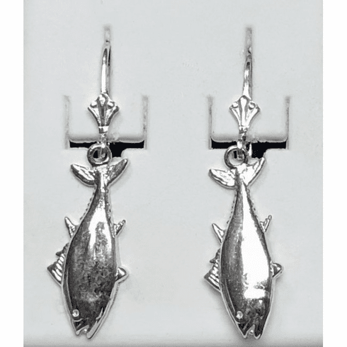 Sterling Small Tuna Leverback Earrings
