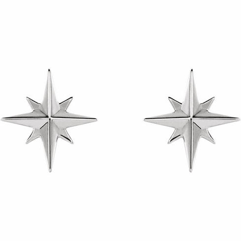 Sterling Star Stud Earrings