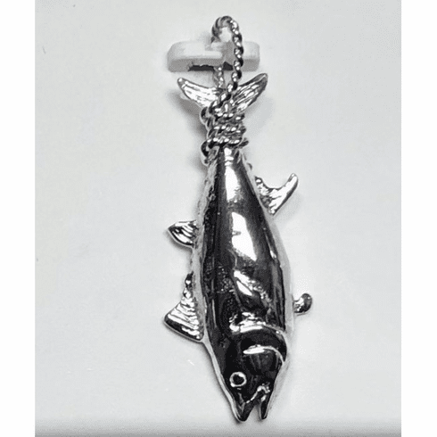 Sterling Tail Roped Tuna Pendant