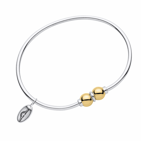 Sterling & Yellow Gold Double Ball Cape Cod Bracelet